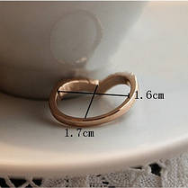 Кольцо со стразами Ihr Herz, фото 2