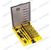 Набор инструментов Jackly JK-6089a,противоскользящие ручки,42 насадки+пинцет+зарядка телефона,Набор отверток