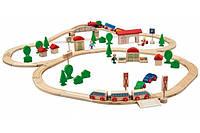 Железная дорога деревяная 81 деталь Eichhorn 1205