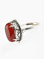 Кольцо с камнем сердолик