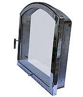 Каминная дверка нержавеющая арочная 40 х 50 см