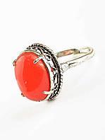 Кольцо с красным камнем сардоникс