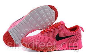 Женские кроссовки Nike Air Max Thea Flyknit Pink/Red/Black
