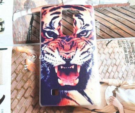 Чехол для LG G4c панель накладка с рисунком тигр
