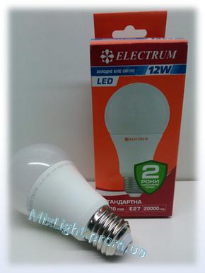 Светодиодная лампа Electrum A60 12W 4000K, фото 2