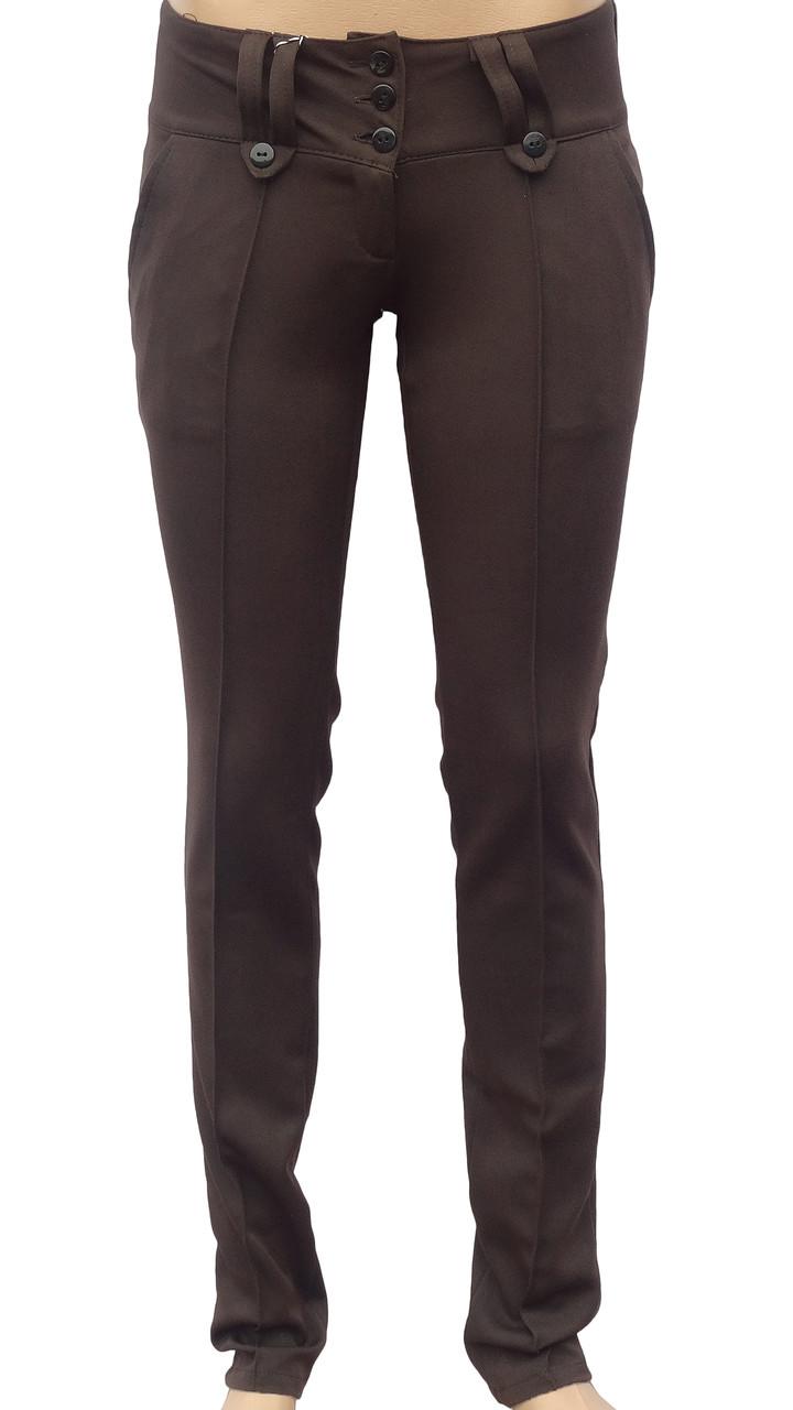 Классические женские брюки (коричневые 42)