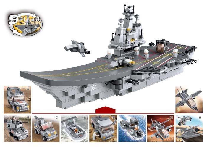 Конструктор  SLUBAN  M38-B0537 Авианосец 1 из 9  110 дет