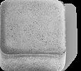 Брусчатка без фасок 200х100х80 мм, цвет Серый, фото 2