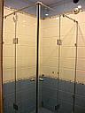 Угловая душевая кабина с 2-мя распашными дверьми на стекле, фото 4