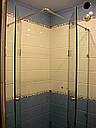 Угловая душевая кабина с 2-мя распашными дверьми на стекле, фото 5
