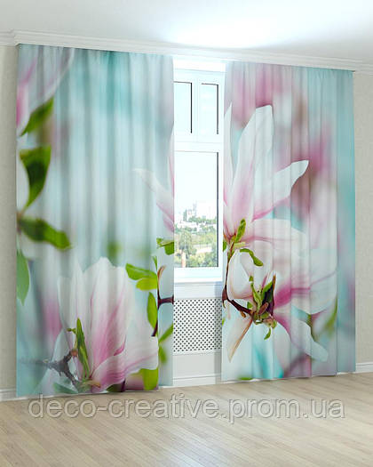 Фотошторы цветущая магнолия весной