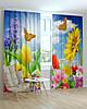 Фотошторы цветы разноцветная композиция