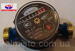 """Счетчик КВ-2,5 Х Ду-20 (ВН, t=40) 3/4""""с КМЧ холодной воды бытовой одноструйный крыльчатый"""