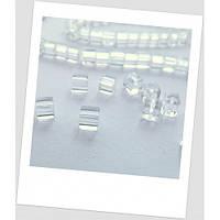 Бусина прозрачная стеклянная квадратная 4 мм х 4 мм