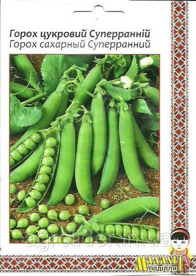 Семена горох Сахарный Суперранний 20г Зеленый (Малахiт Подiлля)