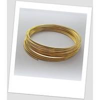 Мемори-проволока для браслета золотого цвета 55 мм (подросток, тонкое запястье).