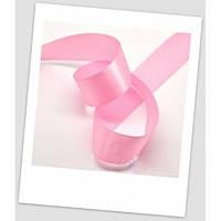 Лента атласная, 2,5 см шириной, цвет: розовый