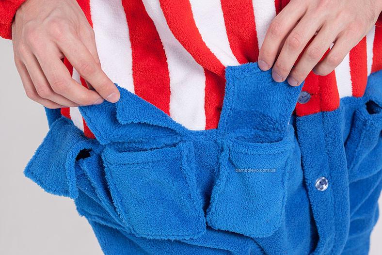 Пижама-костюм Кигуруми Капитан Америка. Для взрослых и детей ... e99f43671f4ae