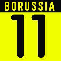 Нанесение номера и фамилии Borussia Dortmund 15\16