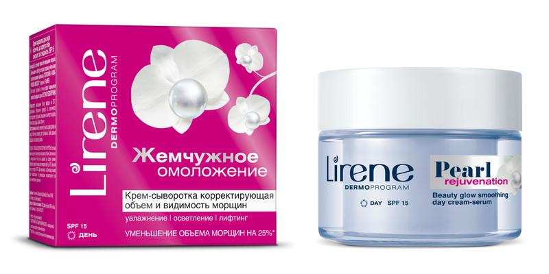 Крем-сыворотка корректирующая объем и видимость морщин SPF15, 50мл, Lirene - Барышня, интернет-магазин косметики в Одессе