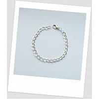 Основа для браслета металлическая цепь, цвет: серебряный, 20 см длиной