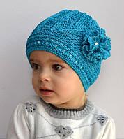 Ажурная шапка для девочек 2-7 лет (р. 48-54 см)