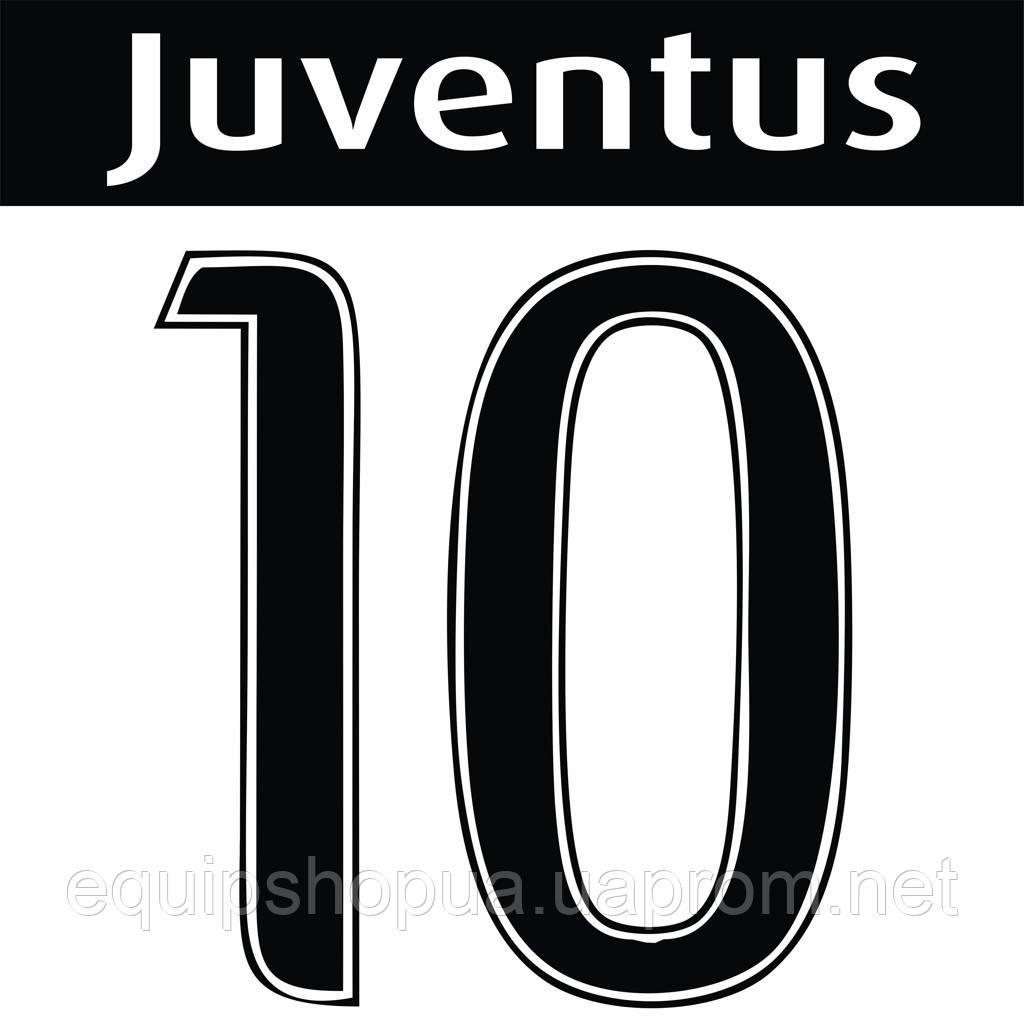 Нанесение номера и фамилии Juventus