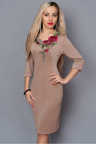 Платье с вышивкой на груди большой размер, фото 2