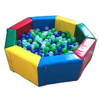 Сухой бассейн для шариков «Радуга» 2м в игровую комнату