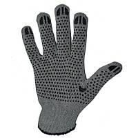Защитные рабочие перчатки с ПВХ-рисунком (608 ЭКОНОМ ВАРИАНТ) ТМ DOLONI / Украина