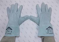 Перчатки рабочие замшевые серые, пятипалые EW 002