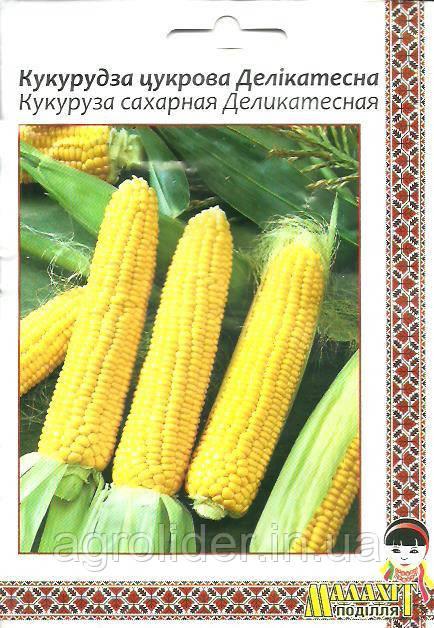 Семена кукуруза сахарная Деликатесная 20г Желтая (Малахiт Подiлля)
