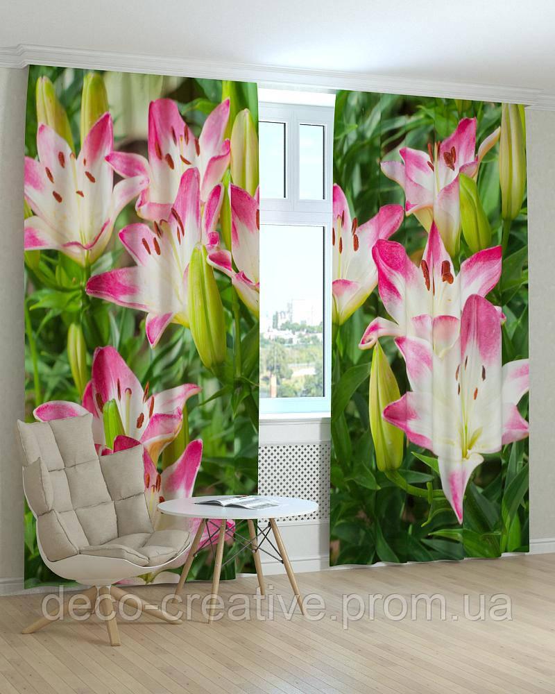Фотошторы цветы лилии розовые - Интернет магазин deco-creative в Черниговской области