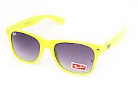 Солнцезащитные очки Wayfarer лимонные, фото 1