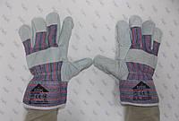 Перчатки рабочие комбинированные спилком, пятипалые EC 004 A