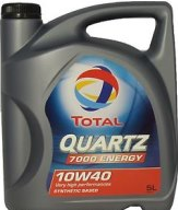 Полусинтетическое моторное масло Total (тотал) QUARTZ 7000 Energy SL/CF 10w-40 4л.
