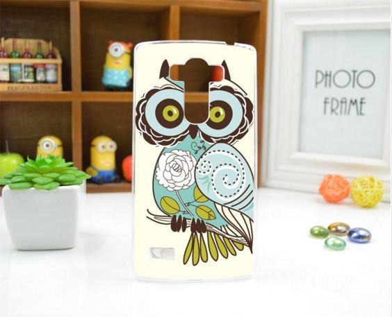 Чехол для LG G4s панель накладка с рисунком сова