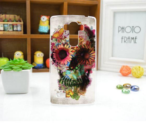 Чехол для LG G4s панель накладка с рисунком череп