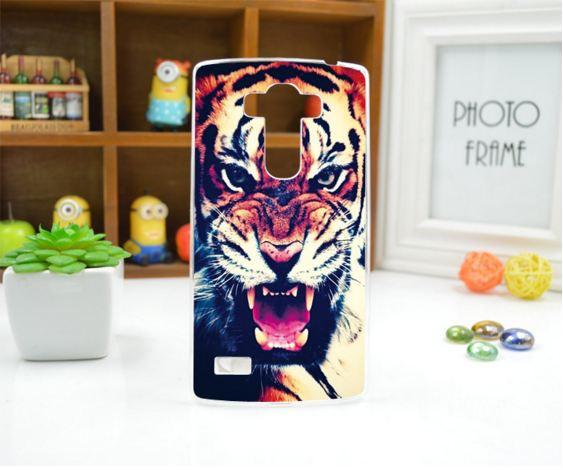 Чехол для LG G4s панель накладка с рисунком тигр