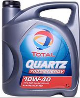 Полусинтетическое моторное масло TOTAL(тотал)  QUARTZ 7000 10w40 4л.