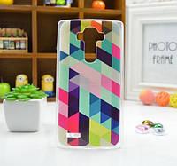 Чехол для LG G4/H818/H810/F500 панель накладка с рисунком ромбы
