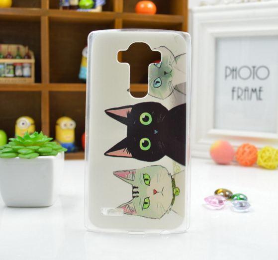 Чехол для LG G4/H818/H810/F500 панель накладка с рисунком три кота