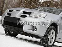 Накладка на передній бампер Mitsubishi Outlander 2005-2007 р. в. глянець, під фарбування 3мм