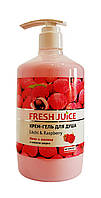 Крем-гель для душа Fresh Juice Litchi & Raspberry - 750 мл.