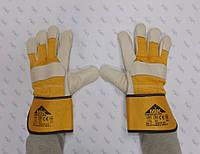 Перчатки утепленные рабочие комбинированные спилком и кожей, пятипалые EL 012