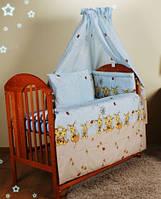 """Детское постельное белье в кроватку- """"Голубые пчелы"""""""