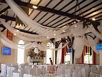 Свадебное оформление тканями и различными материалами