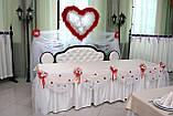 Весільне оформлення тканинами і різними матеріалами, фото 2