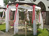 Весільне оформлення тканинами і різними матеріалами, фото 4