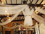 Весільне оформлення тканинами і різними матеріалами, фото 7